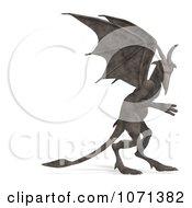 Clipart 3d Fantasy Sandstone Gargoyle Statue 4 Royalty Free CGI Illustration