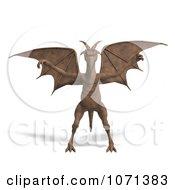 Clipart 3d Fantasy Sandstone Gargoyle Statue 1 Royalty Free CGI Illustration