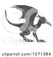 Clipart 3d Fantasy Sandstone Gargoyle Statue 2 Royalty Free CGI Illustration