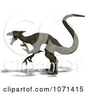 Clipart 3d Dark Green Fantasy Dragon 3 Royalty Free CGI Illustration by Ralf61