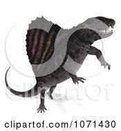 Clipart 3d Prehistoric Dimetrodon Dinosaur Lizard 15 Royalty Free CGI Illustration