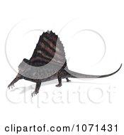 Clipart 3d Prehistoric Dimetrodon Dinosaur Lizard 16 Royalty Free CGI Illustration