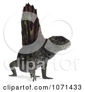 Clipart 3d Prehistoric Dimetrodon Dinosaur Lizard 14 Royalty Free CGI Illustration