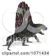 Clipart 3d Prehistoric Dimetrodon Dinosaur Lizard 13 Royalty Free CGI Illustration