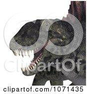 Clipart 3d Prehistoric Dimetrodon Dinosaur Lizard 12 Royalty Free CGI Illustration