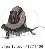 Clipart 3d Prehistoric Dimetrodon Dinosaur Lizard 11 Royalty Free CGI Illustration