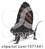 Clipart 3d Prehistoric Dimetrodon Dinosaur Lizard 5 Royalty Free CGI Illustration