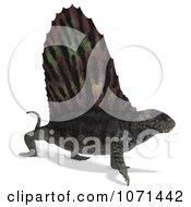 Clipart 3d Prehistoric Dimetrodon Dinosaur Lizard 6 Royalty Free CGI Illustration