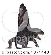 Clipart 3d Prehistoric Dimetrodon Dinosaur Lizard 18 Royalty Free CGI Illustration