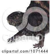 Clipart 3d Prehistoric Dimetrodon Dinosaur Lizard 4 Royalty Free CGI Illustration