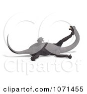 Clipart 3d Prehistoric Brachiosaurus Dinosaur Falling Down 3 Royalty Free CGI Illustration