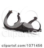 Clipart 3d Prehistoric Brachiosaurus Dinosaur Falling Down 4 Royalty Free CGI Illustration