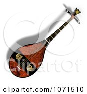 Clipart 3d Japanese Lute Biwa Musical Instrument 2 Royalty Free CGI Illustration by Ralf61