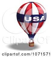 Clipart 3d USA Hot Air Balloon Royalty Free CGI Illustration