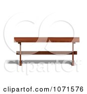 Clipart 3d Wooden Bench 1 Royalty Free CGI Illustration