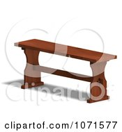 Clipart 3d Wooden Bench 2 Royalty Free CGI Illustration