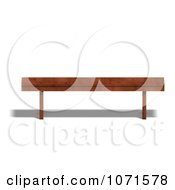 Clipart 3d Wooden Bench 3 Royalty Free CGI Illustration