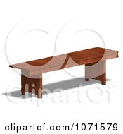 Clipart 3d Wooden Bench 4 Royalty Free CGI Illustration