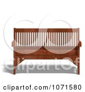 Clipart 3d Wooden Bench 5 Royalty Free CGI Illustration