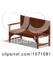 Clipart 3d Wooden Bench 6 Royalty Free CGI Illustration