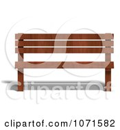 Clipart 3d Wooden Bench 7 Royalty Free CGI Illustration