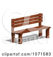 Clipart 3d Wooden Bench 8 Royalty Free CGI Illustration
