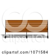 Clipart 3d Wooden Bench 9 Royalty Free CGI Illustration