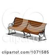 Clipart 3d Wooden Bench 10 Royalty Free CGI Illustration