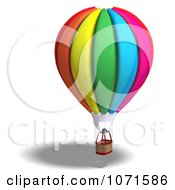 Clipart 3d Colorful Hot Air Balloon Royalty Free CGI Illustration