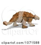 Clipart 3d Prehistoric Ankylosaurus Dinosaur 2 Royalty Free CGI Illustration