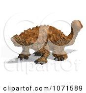 Clipart 3d Prehistoric Ankylosaurus Dinosaur 3 Royalty Free CGI Illustration