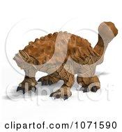 Clipart 3d Prehistoric Ankylosaurus Dinosaur 4 Royalty Free CGI Illustration