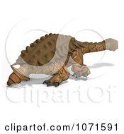 Clipart 3d Prehistoric Ankylosaurus Dinosaur 5 Royalty Free CGI Illustration