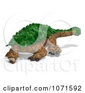 Clipart 3d Prehistoric Ankylosaurus Dinosaur With Green Armor 1 Royalty Free CGI Illustration
