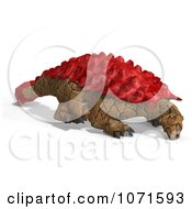 Clipart 3d Prehistoric Ankylosaurus Dinosaur With Red Armor Royalty Free CGI Illustration by Ralf61