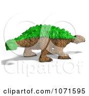 Clipart 3d Prehistoric Ankylosaurus Dinosaur With Green Armor 2 Royalty Free CGI Illustration by Ralf61