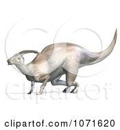 Clipart 3d Prehistoric Parasaurolophus Dinosaur Royalty Free CGI Illustration