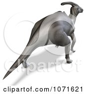 Clipart 3d Prehistoric Parasaurolophus Dinosaur From Behind Royalty Free CGI Illustration