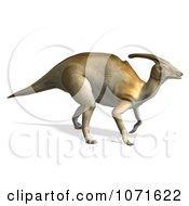 Clipart 3d Prehistoric Tan Parasaurolophus Dinosaur Royalty Free CGI Illustration