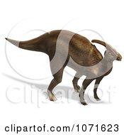 Clipart 3d Prehistoric Brown Parasaurolophus Dinosaur Royalty Free CGI Illustration