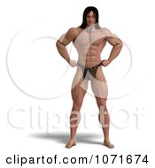 Clipart 3d Strong Tarzan Man Standing 2 Royalty Free CGI Illustration by Ralf61