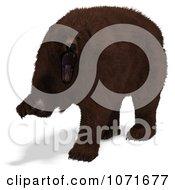 Clipart 3d Ursus Arctos Brown Bear Attacking Royalty Free CGI Illustration