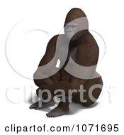 Clipart 3d Gorilla Sitting Royalty Free CGI Illustration by Ralf61