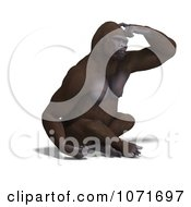 Clipart 3d Gorilla Scratching His Head Royalty Free CGI Illustration by Ralf61