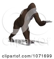 Clipart 3d Gorilla Holding A Hand Out Royalty Free CGI Illustration by Ralf61