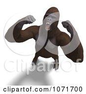 Clipart 3d Gorilla Screaming Royalty Free CGI Illustration by Ralf61