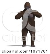 Clipart 3d Gorilla Covering His Mouth Royalty Free CGI Illustration by Ralf61