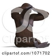 Clipart 3d Gorilla Covering His Eyes Royalty Free CGI Illustration by Ralf61