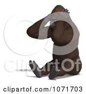 Clipart 3d Gorilla Covering His Ears Royalty Free CGI Illustration by Ralf61