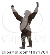 Clipart 3d Gorilla Screaming And Hitting His Chest Royalty Free CGI Illustration by Ralf61